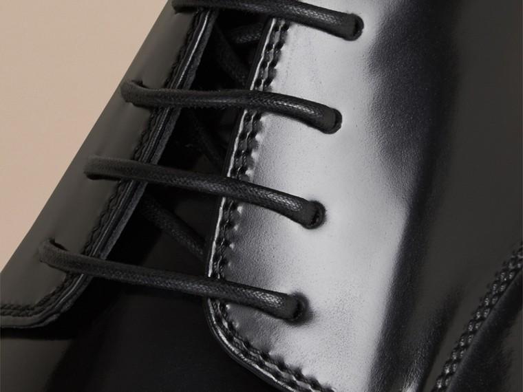 Schwarz Derby-Schuhe aus Leder Schwarz - cell image 1