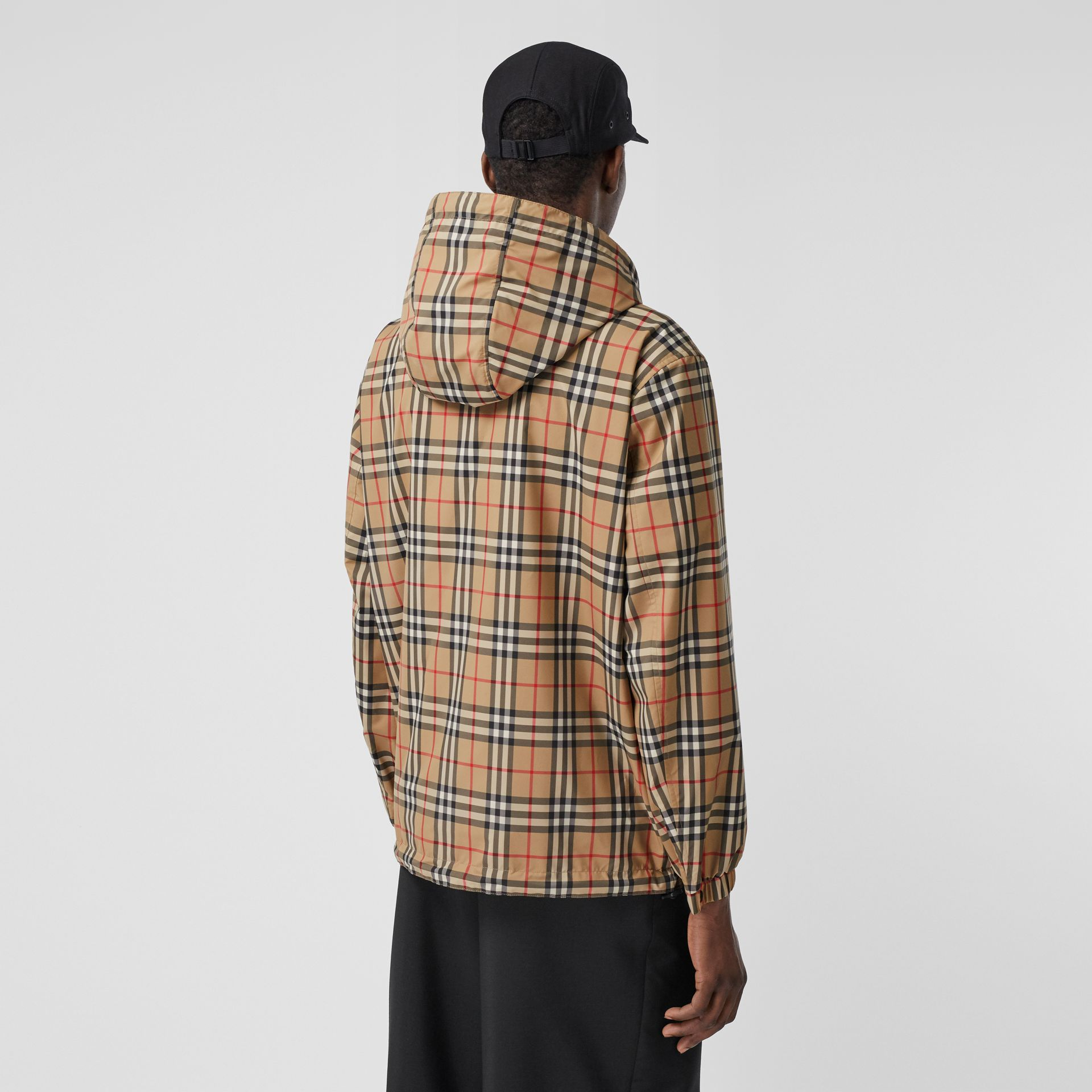 Reversible Vintage Check Recycled Polyester Jacket in Archive Beige - Men | Burberry - gallery image 7