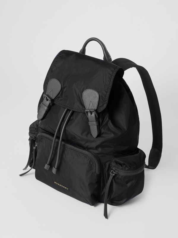 Zaino The Rucksack grande in nylon tecnico e pelle (Nero) - Uomo | Burberry - cell image 3