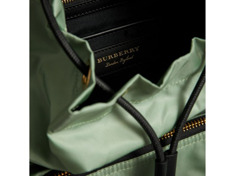 The Medium Rucksack in Technical Nylon and Leather in Apple Green - Women | Burberry United States - cell image 4