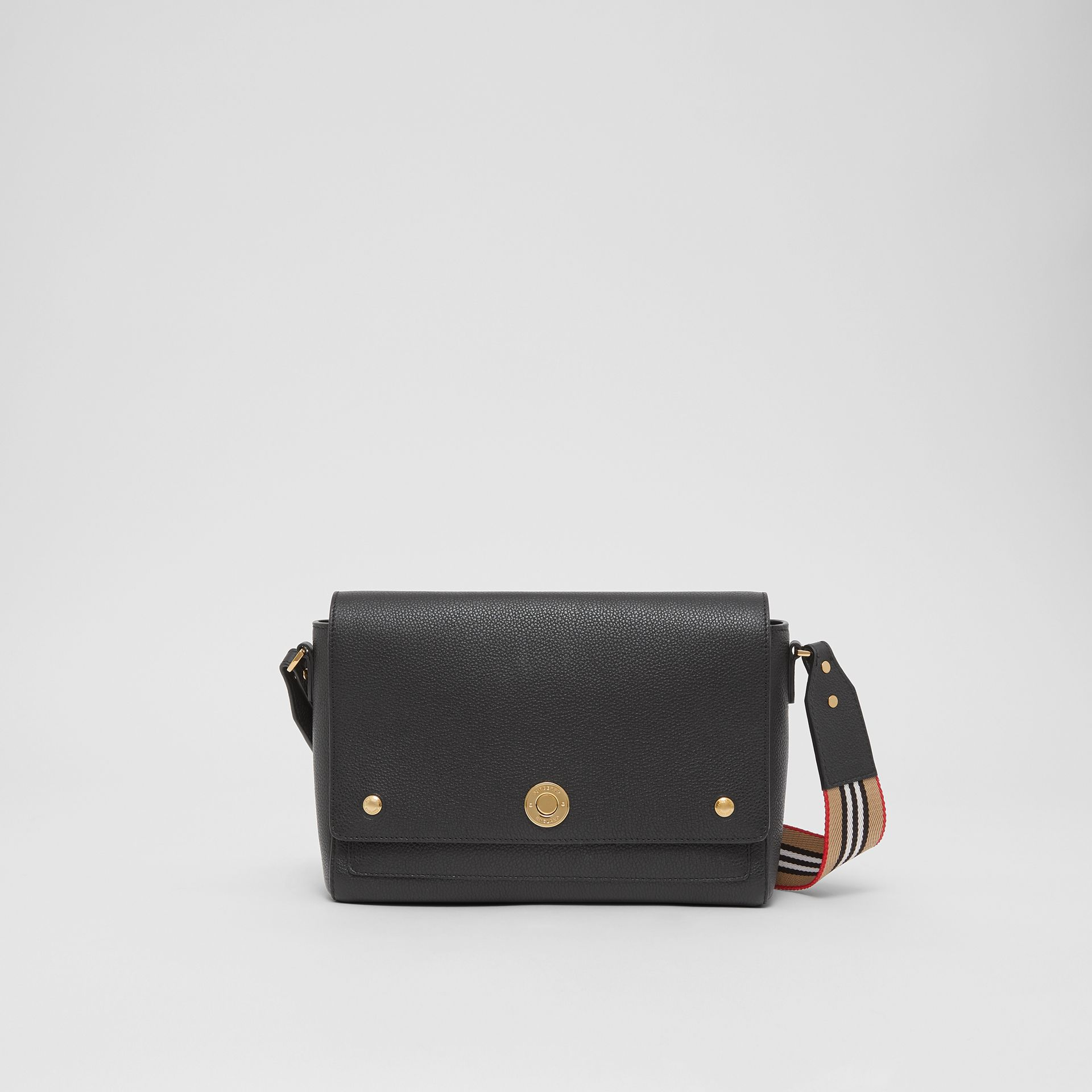 Grainy Leather Note Crossbody Bag in Black - Women | Burberry United Kingdom - gallery image 0