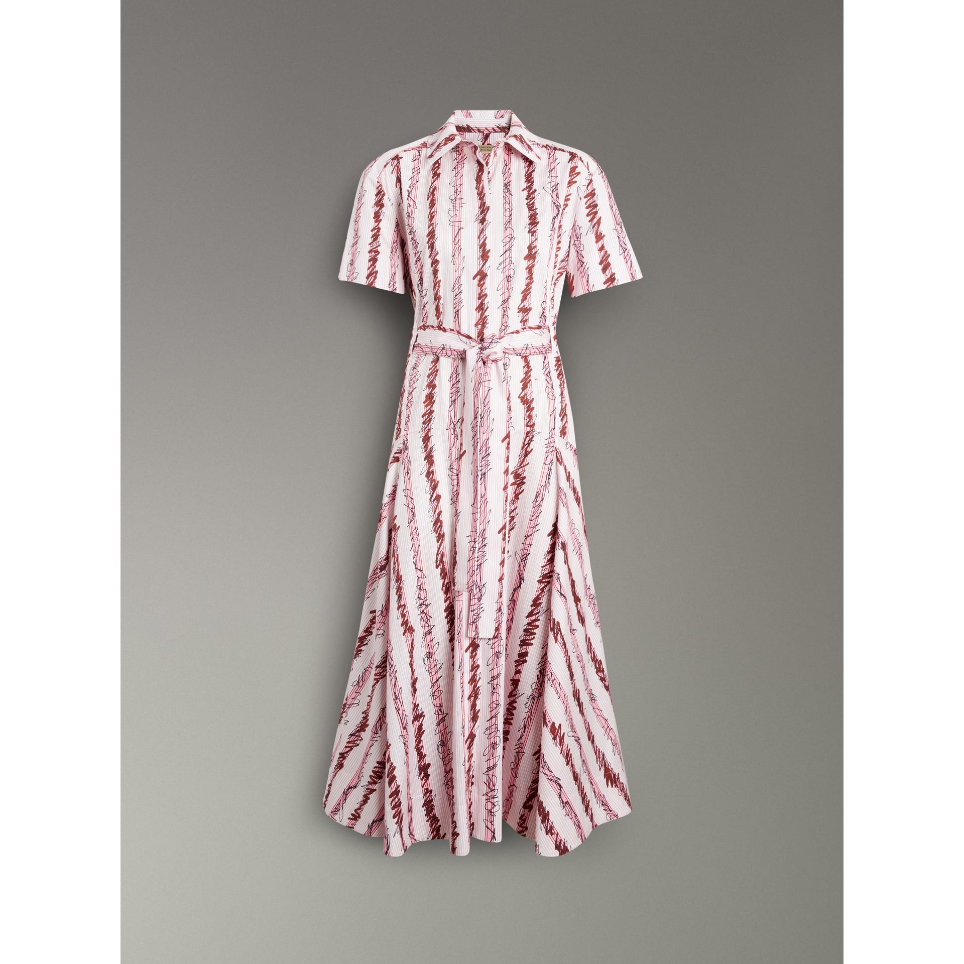 スクリブルストライプ コットン シャツドレス (ライトピンク) - ウィメンズ | バーバリー - ギャラリーイメージ 3
