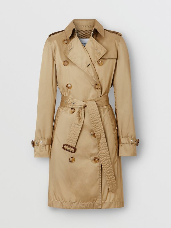 Detachable Hood ECONYL® Trench Coat in Honey - Women | Burberry - cell image 3