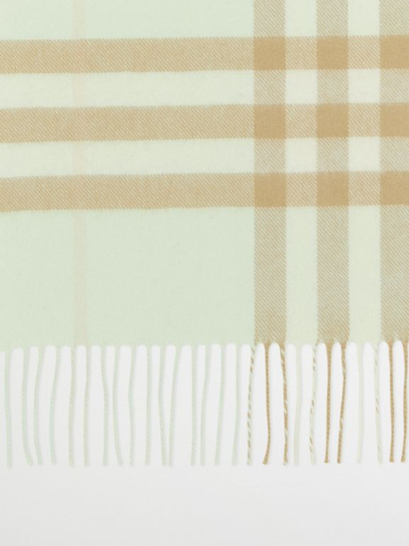 The Classic Check Cashmere Scarf in Pistachio | Burberry - cell image 1