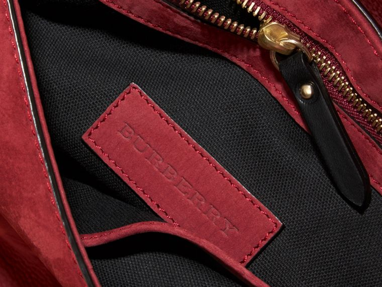 Cherry Grainy Nubuck Crossbody Bag - cell image 4