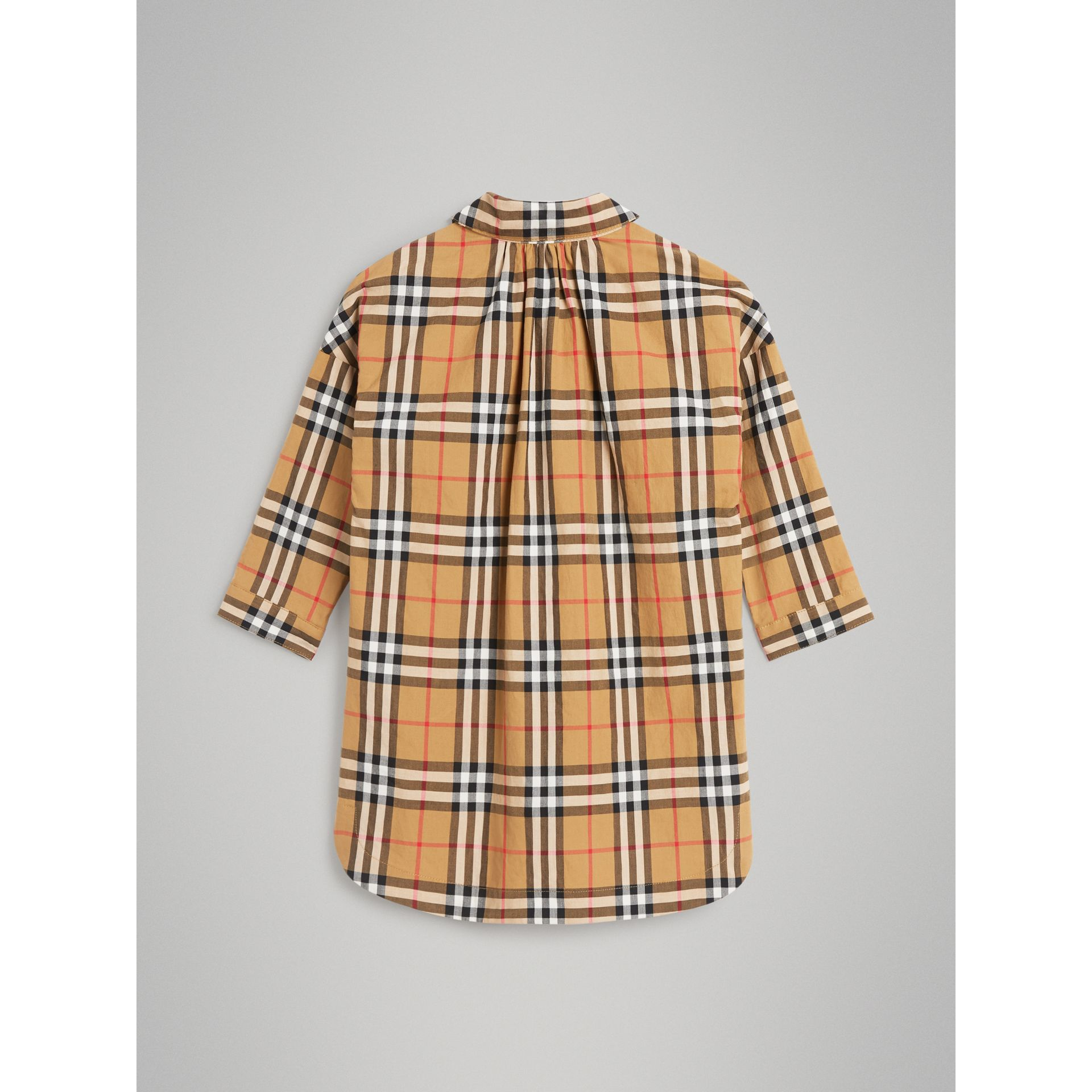 Vintage Check Shirt Dress in Antique Yellow - Girl | Burberry - gallery image 3