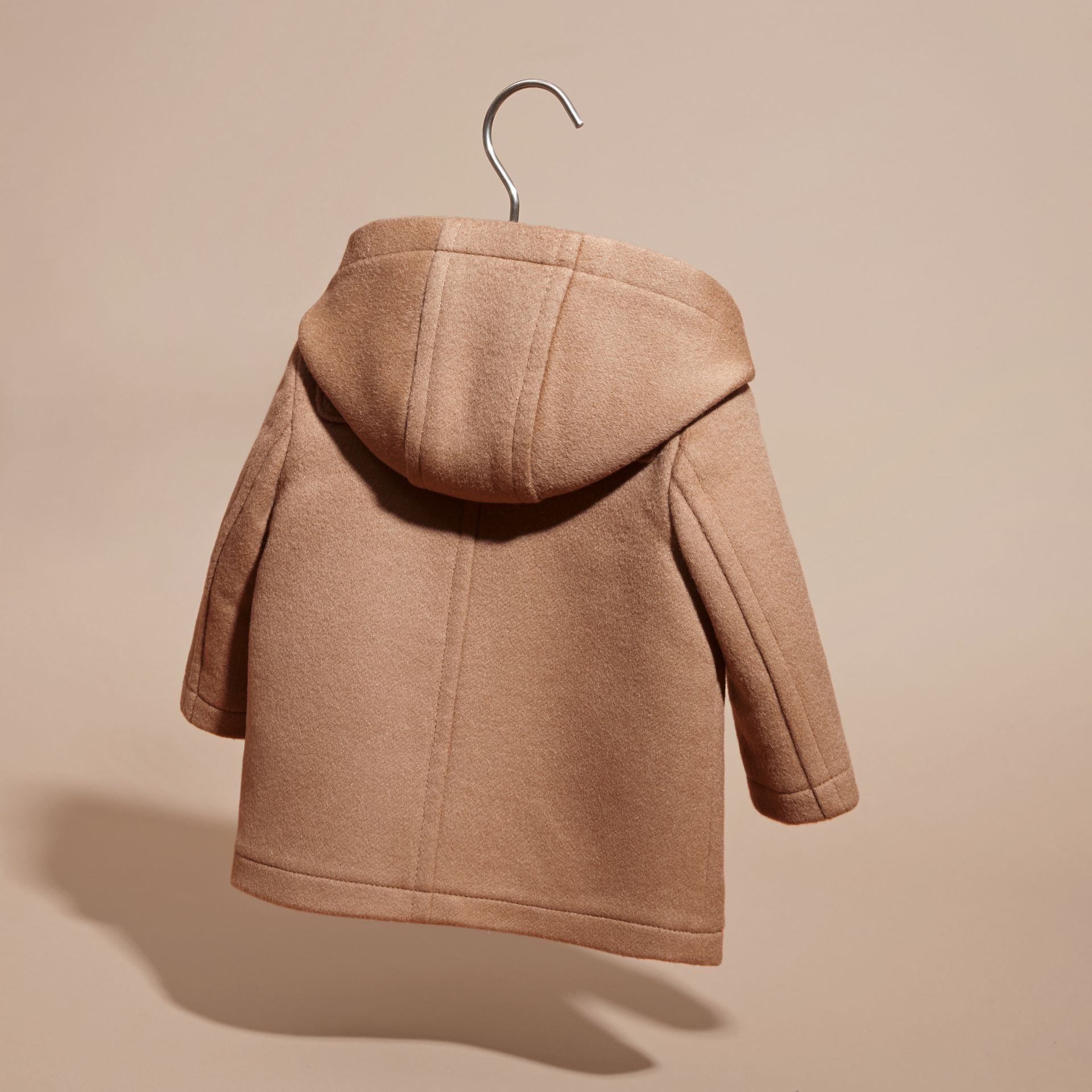 Wool Duffle Coat in New Camel | Burberry Singapore - gallery image 4