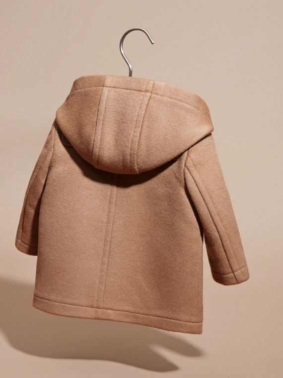 Wool Duffle Coat in New Camel | Burberry Singapore - cell image 3