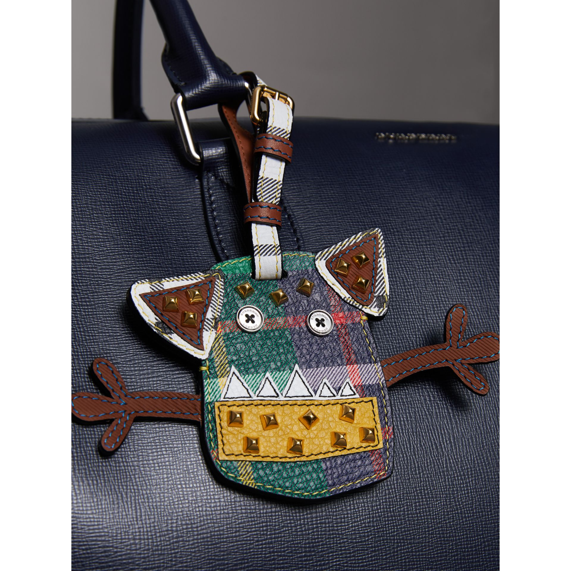 Creature Appliqué Leather Trim Luggage Tag in Racing Green | Burberry United Kingdom - gallery image 2