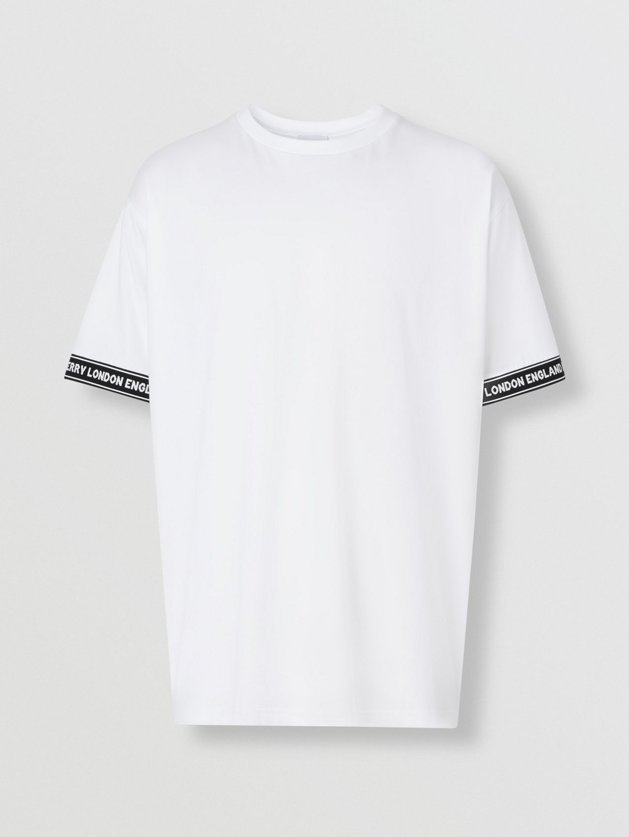 Logo Tape Cotton Oversized T-shirt in White