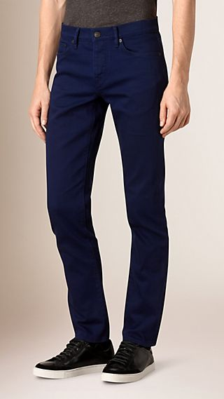 Straight Fit Japanese Stretch Denim Jeans
