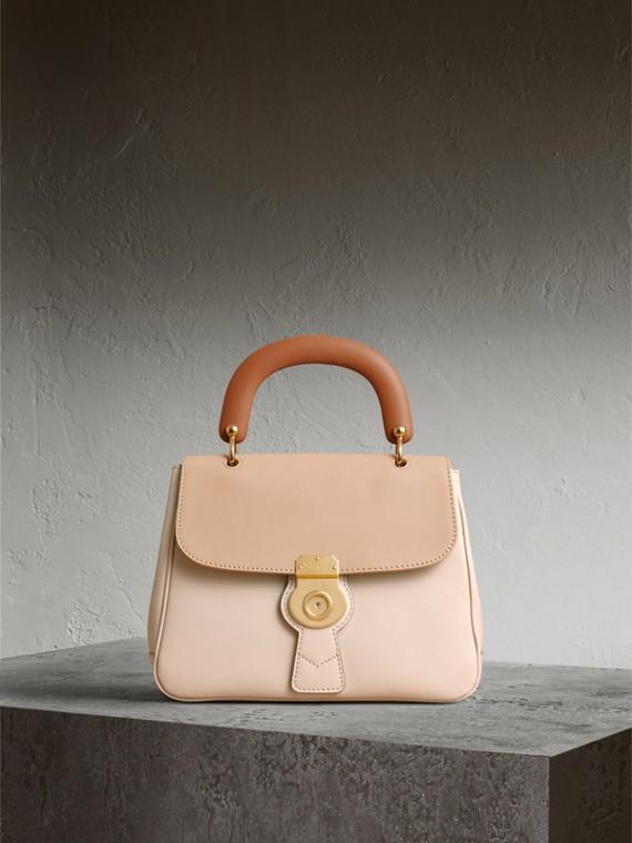 The Medium DK88 Top Handle Bag in Limestone/honey