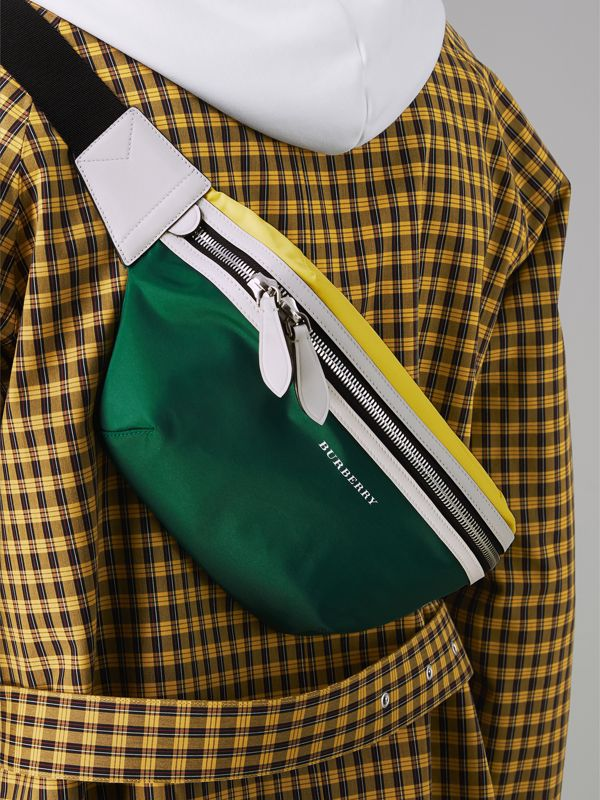 Tri-tone Nylon and Leather Bum Bag in Pine Green | Burberry Singapore - cell image 3