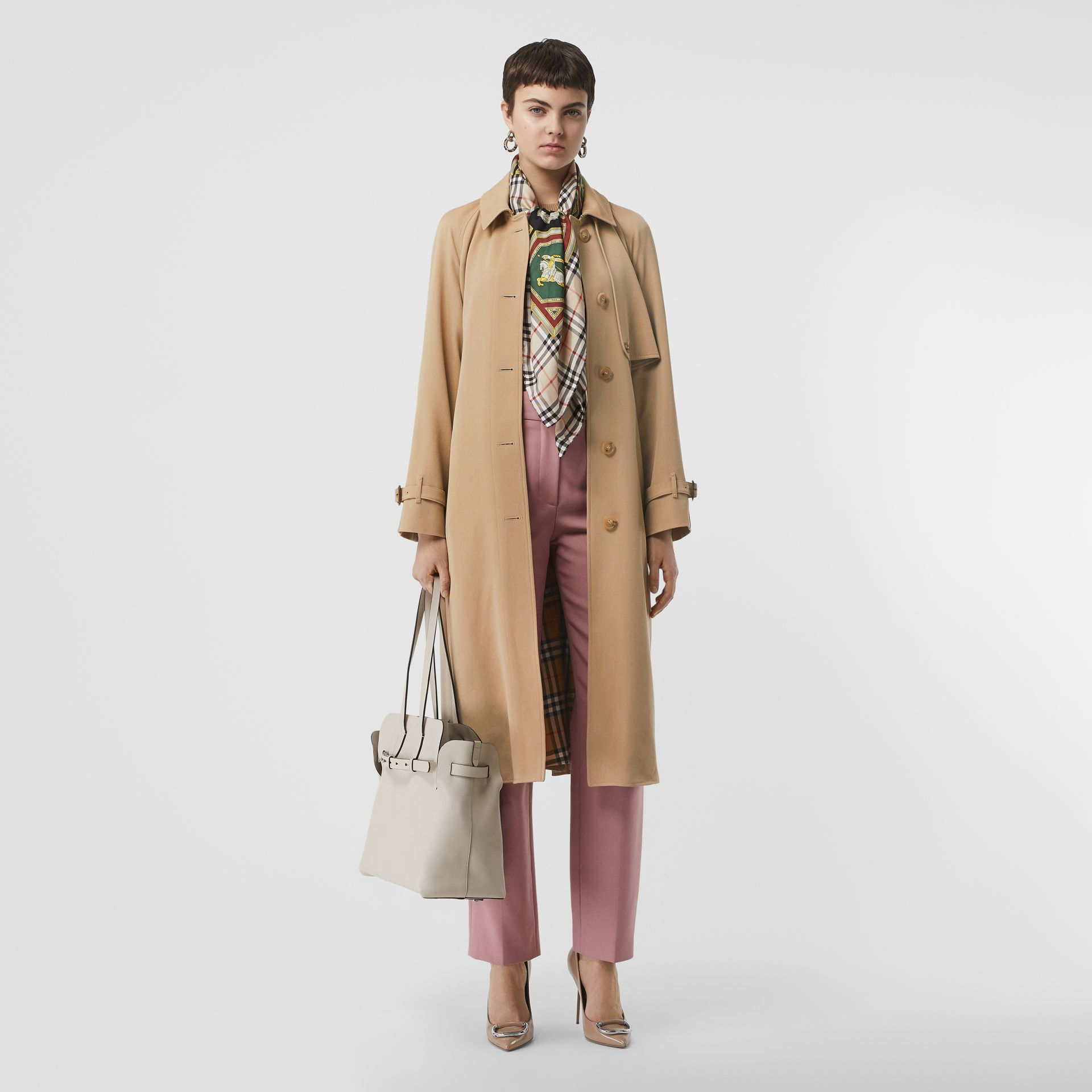 Wool Gabardine Trench Coat in Honey - Women | Burberry - gallery image 0