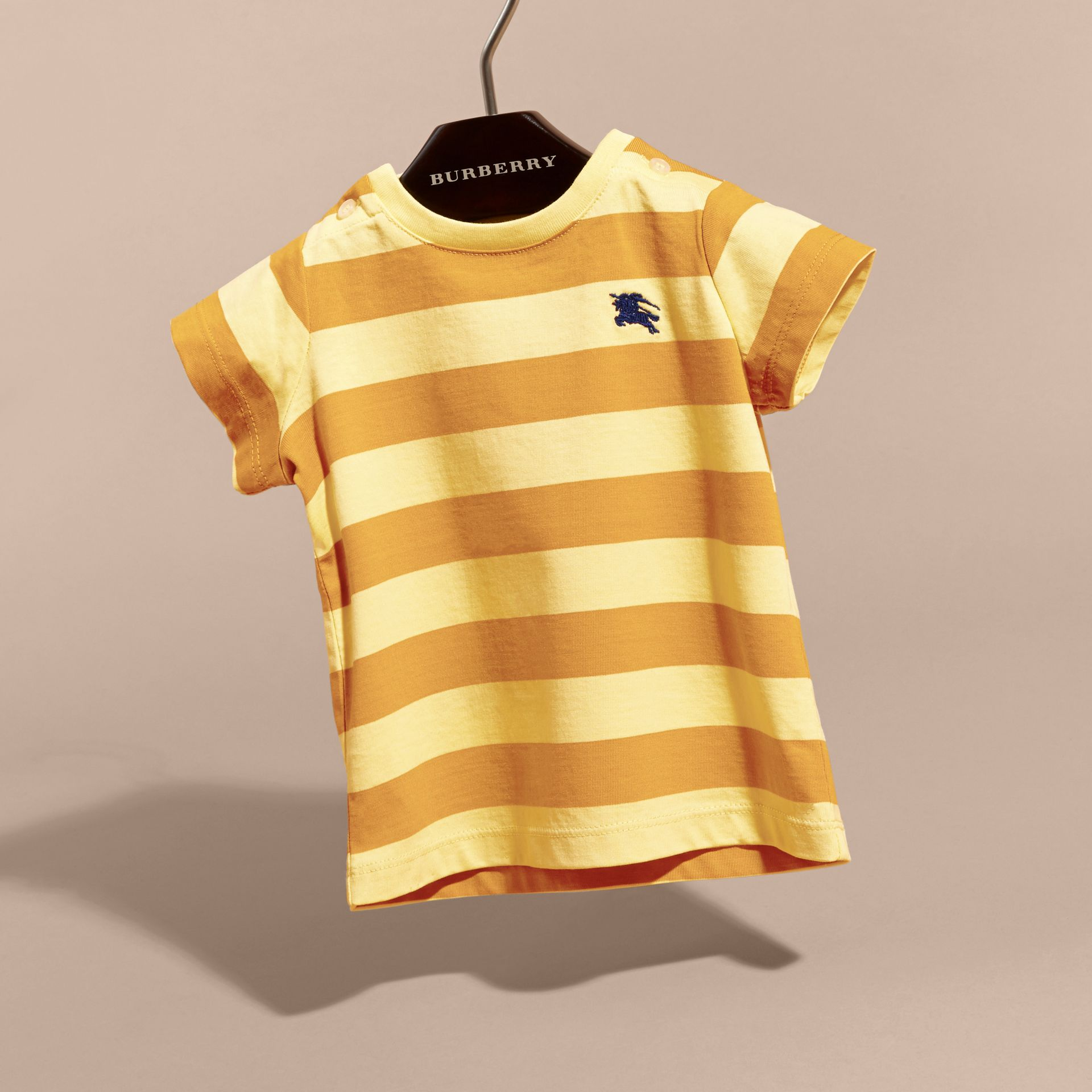Striped Cotton T-shirt | Burberry - gallery image 3