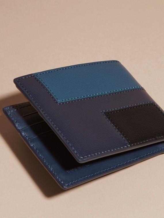 Dark navy Colour Block London Leather Folding Wallet Dark Navy - cell image 3