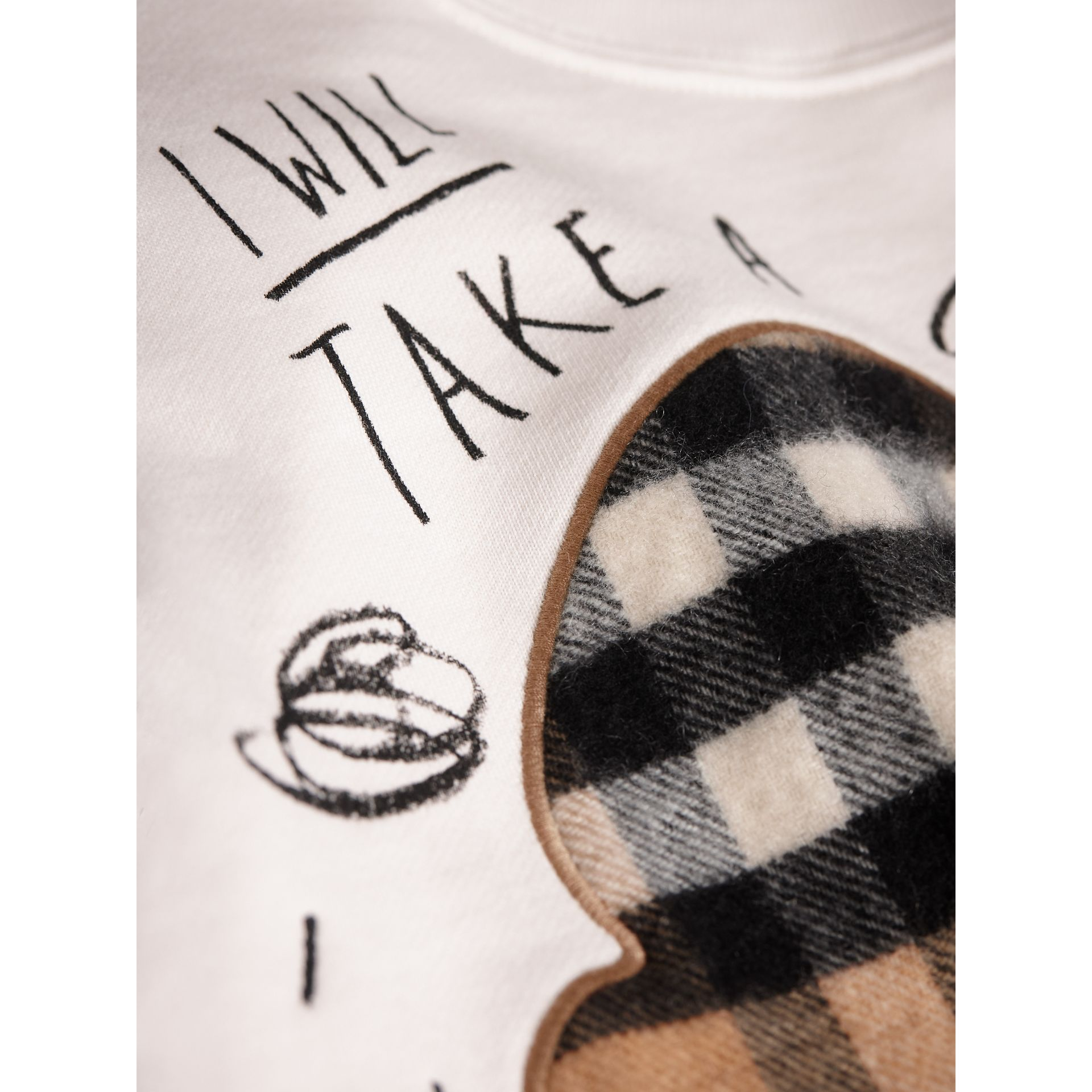 Weather Motif Cotton Sweatshirt in New Classic Check - Girl | Burberry United Kingdom - gallery image 2