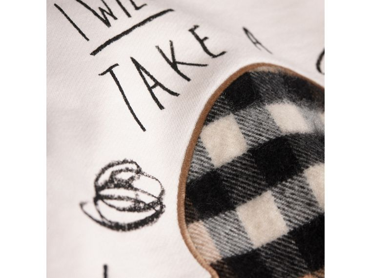 Weather Motif Cotton Sweatshirt in New Classic Check - Girl | Burberry - cell image 1