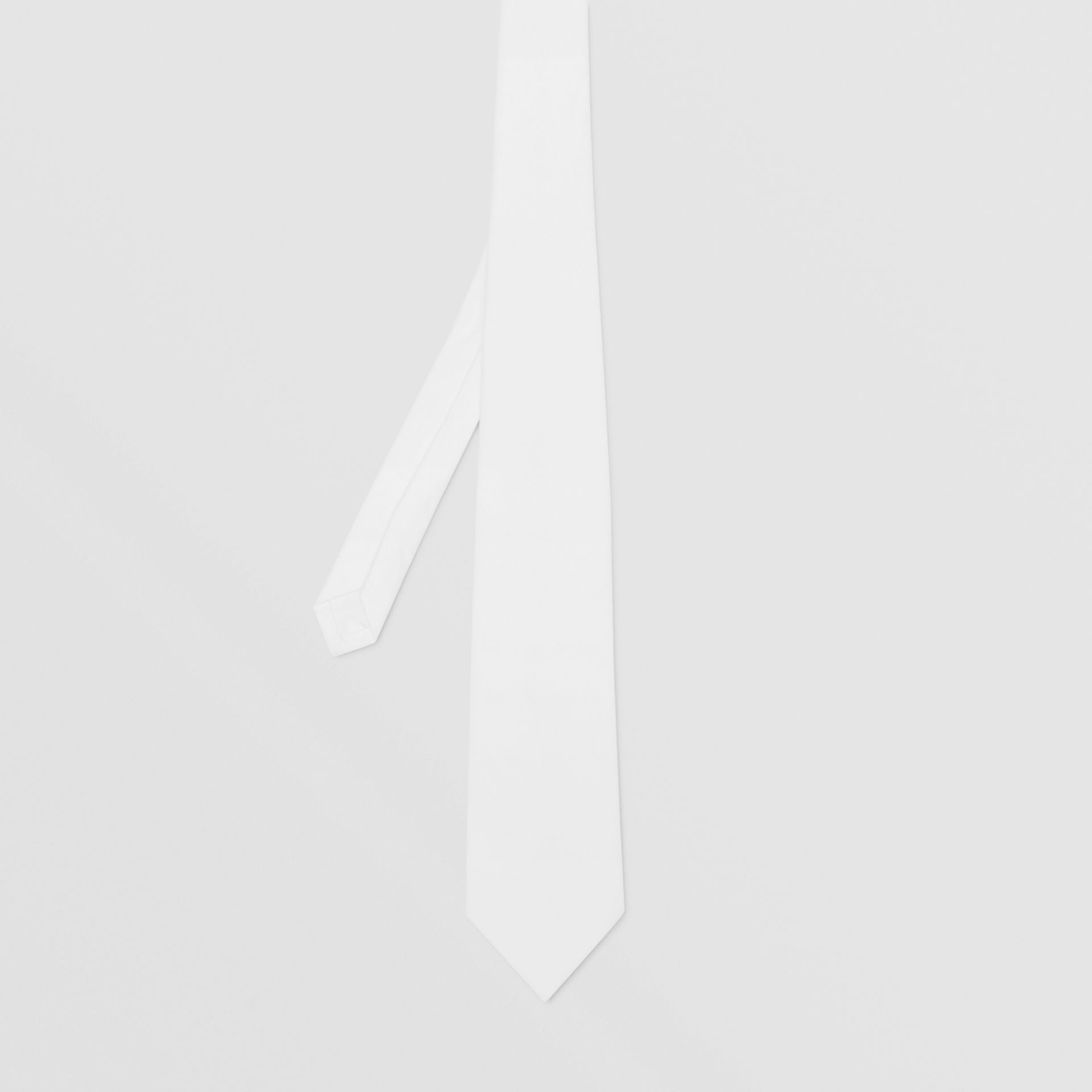 Classic Cut Cotton Tie in Optic White | Burberry - gallery image 4