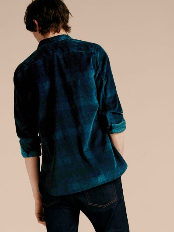 Navy black Check Corduroy Shirt - cell image 2