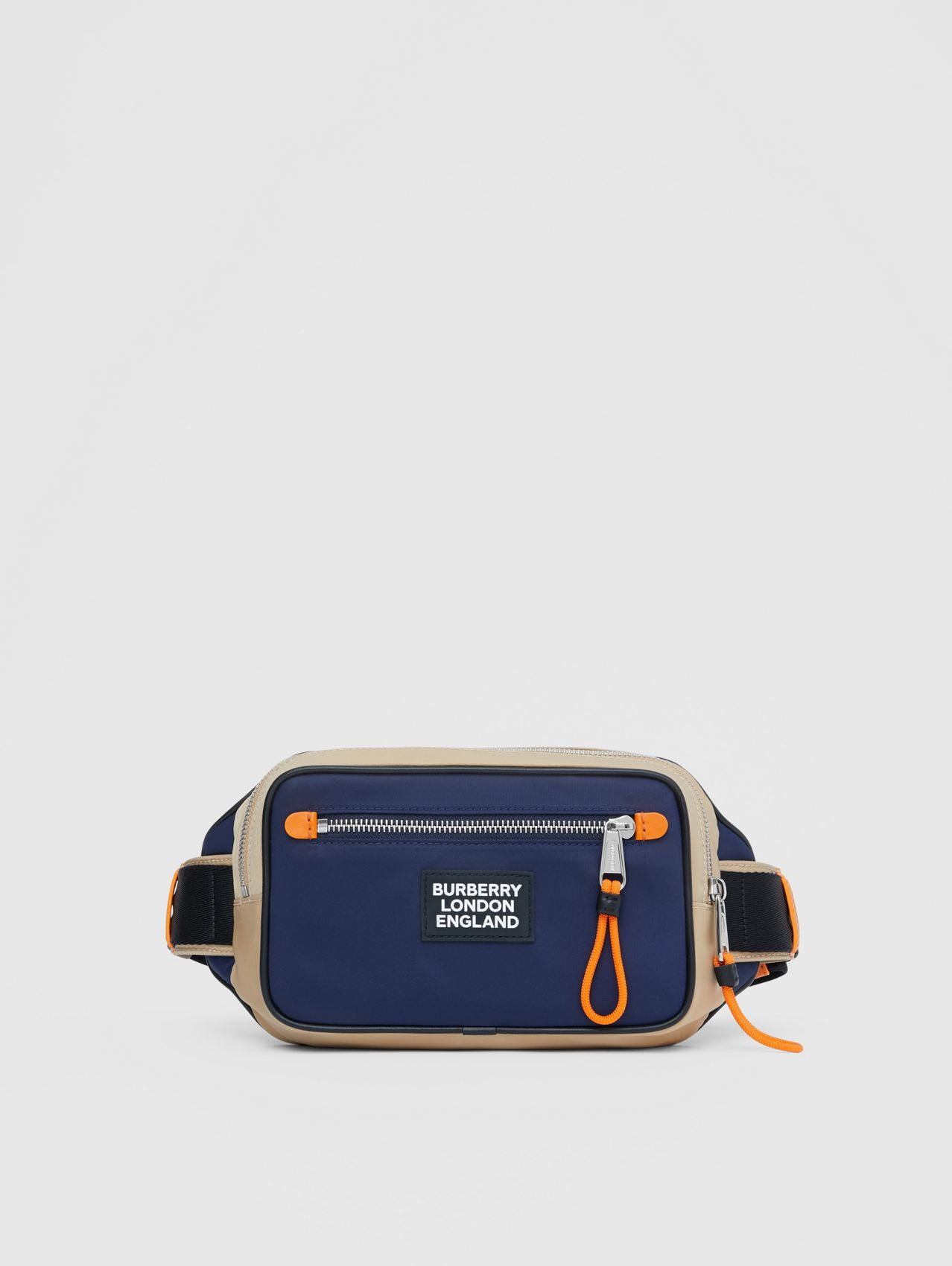 Logo Appliqué Two-tone ECONYL® Bum Bag in Regency Blue/bright Orange