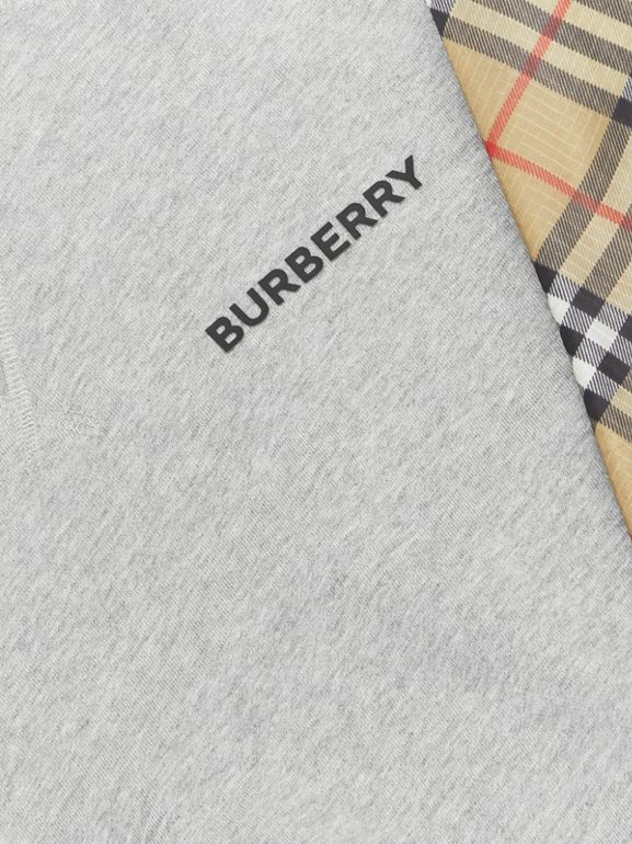 Vintage Check Panel Cotton Sweatshirt in Grey Melange - Boy | Burberry United States - cell image 1