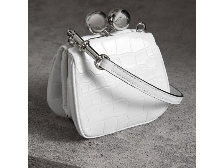 Mini Alligator Frame Bag in White - Women | Burberry United Kingdom - cell image 4