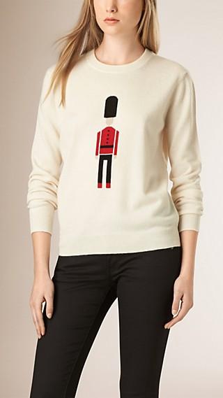 Pullover in lana e cashmere con Guardia inglese