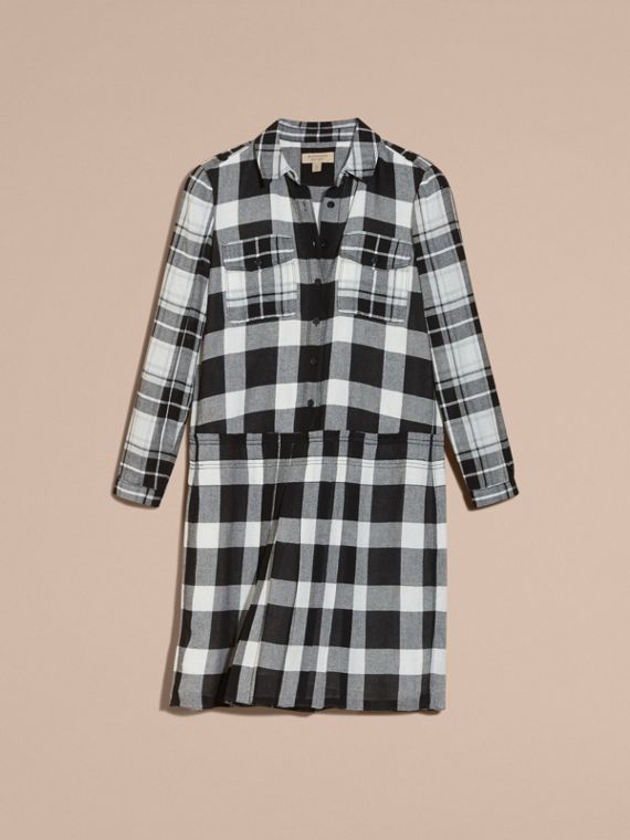 Natural white Check Kilt Dress - cell image 3