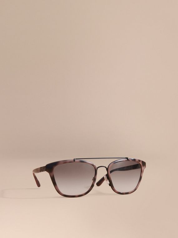 Top Bar Square Frame Sunglasses Tortoiseshell