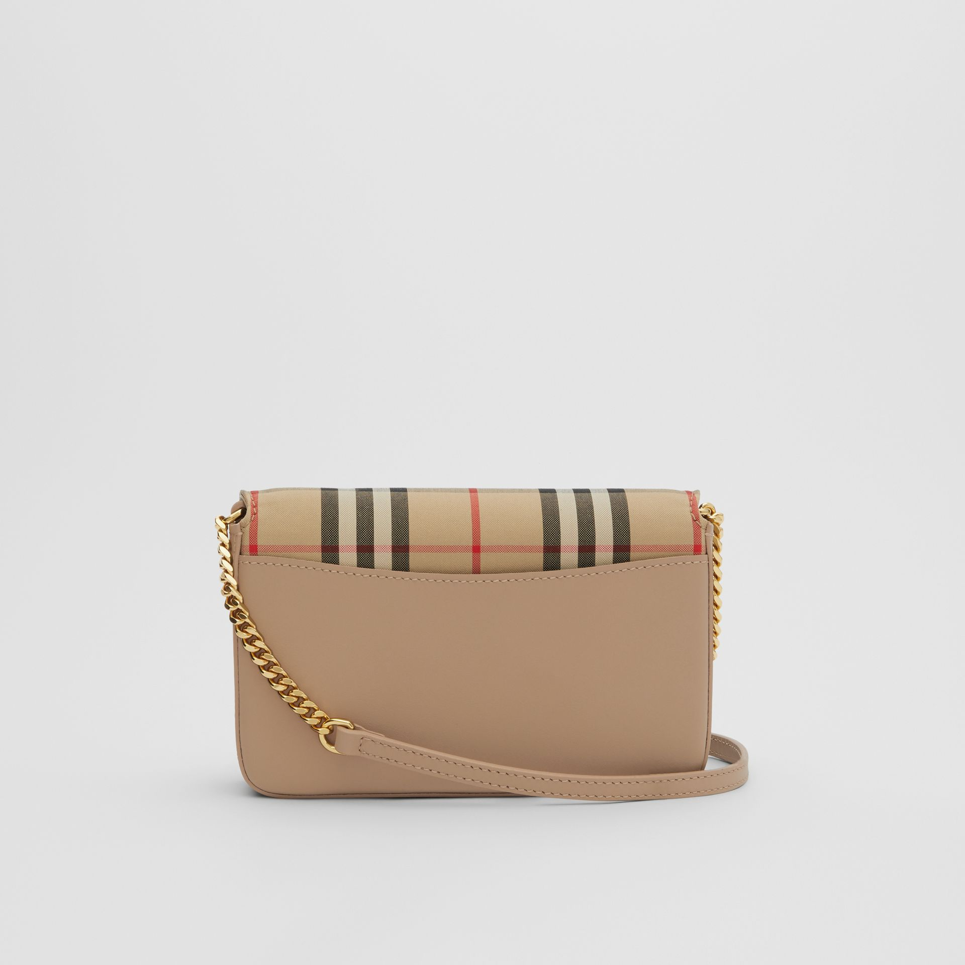 Vintage Check Canvas and Leather Bag in Honey - Women | Burberry - gallery image 5
