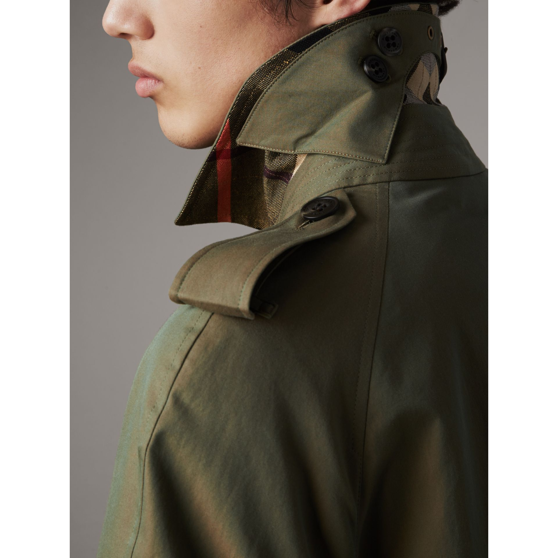 Oversize Storm Shield Tropical Gabardine Trench Coat in Bright Olive - Men | Burberry - gallery image 5