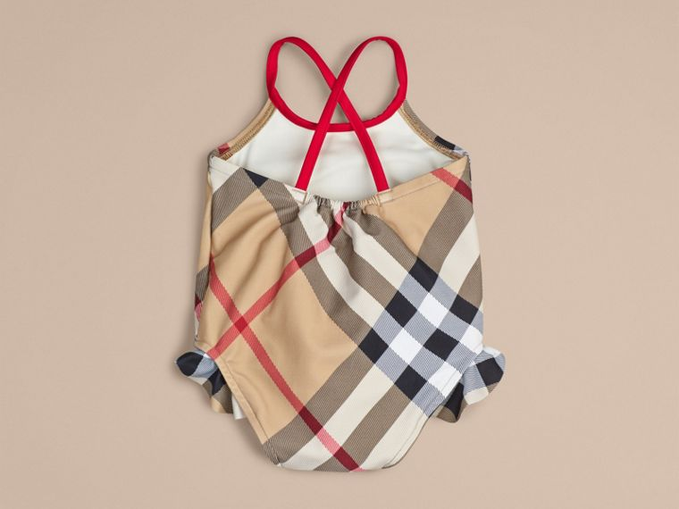 Check One-piece Swimsuit | Burberry - cell image 1