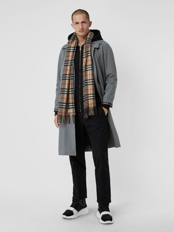 Check Cashmere Scarf in Camel | Burberry - cell image 3