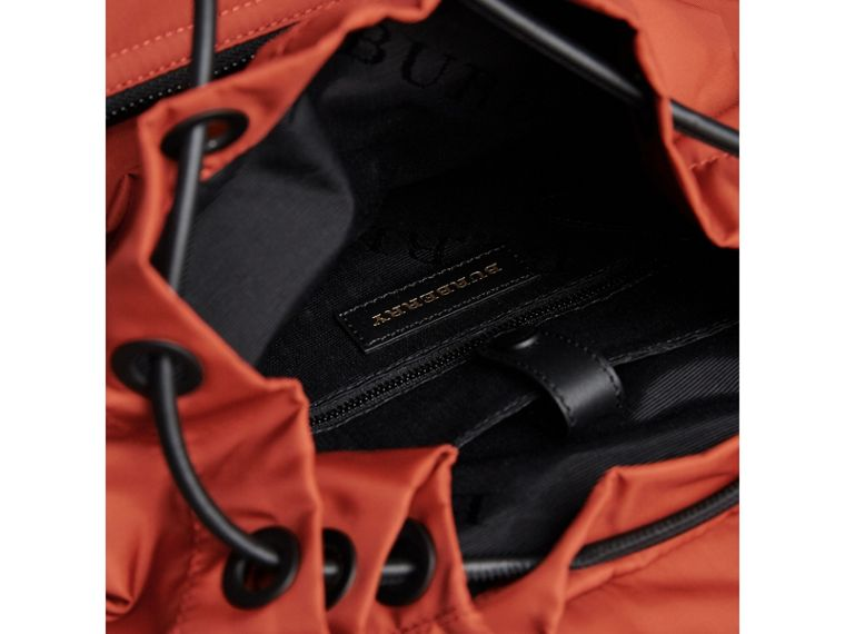 The Large Rucksack in Technical Nylon and Leather in Redwood - Men | Burberry - cell image 4