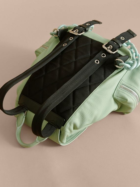 The Medium Rucksack in Deerskin with Resin Chain in Spearmint - Women | Burberry Hong Kong - cell image 3