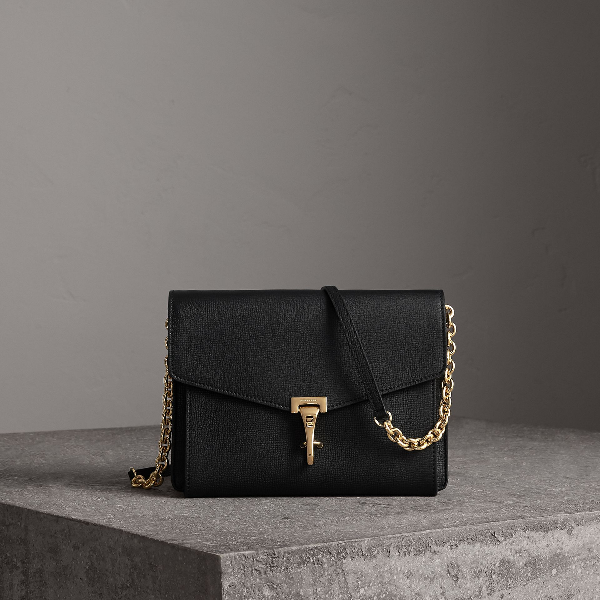 Small Leather Crossbody Bag in Black - Women | Burberry - gallery image 0