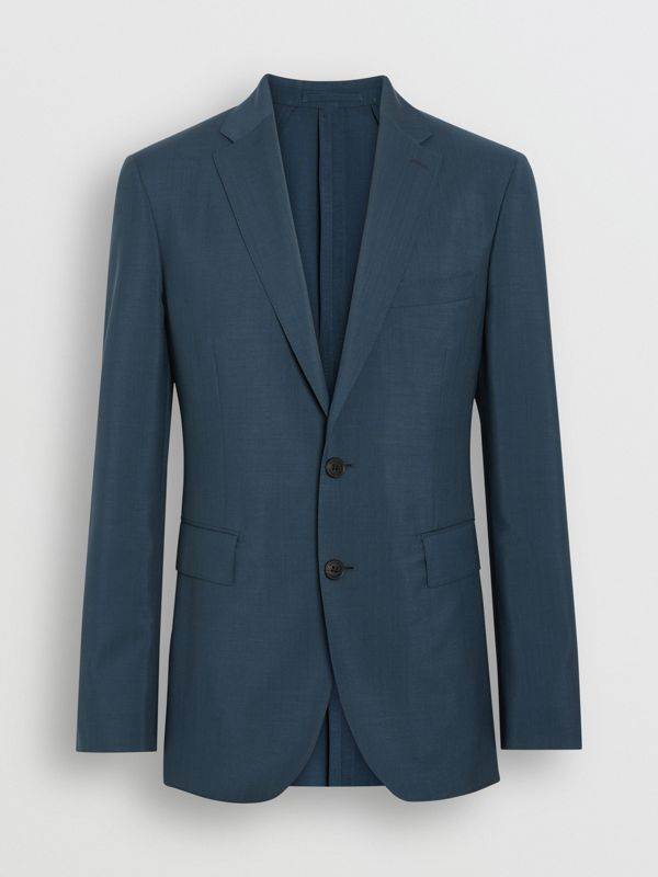 Soho Fit Wool Mohair Suit in Dark Pewter Blue - Men | Burberry - cell image 3