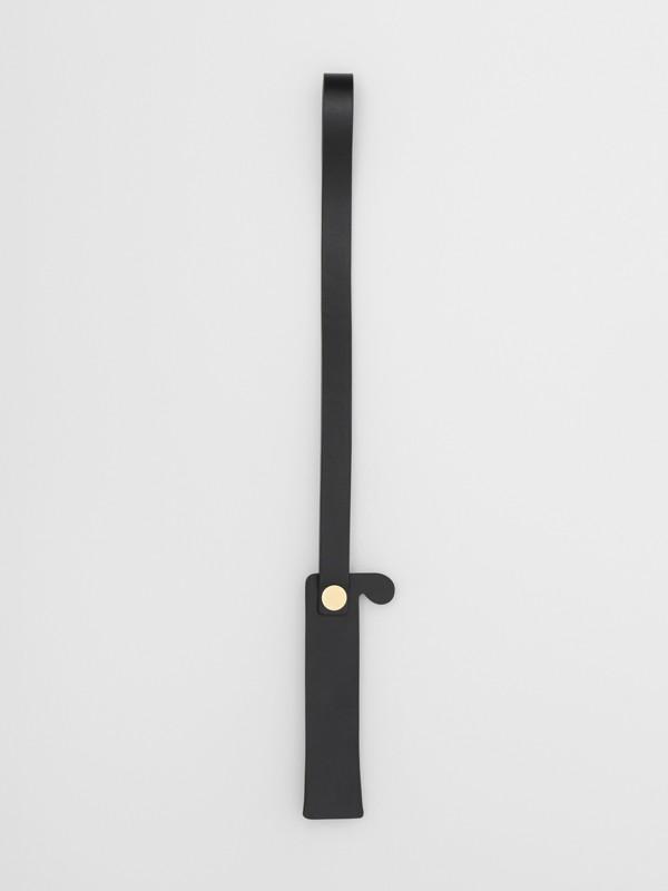 「I」鉚釘皮革字母吊飾 (黑色/淺金色) - 女款 | Burberry - cell image 2