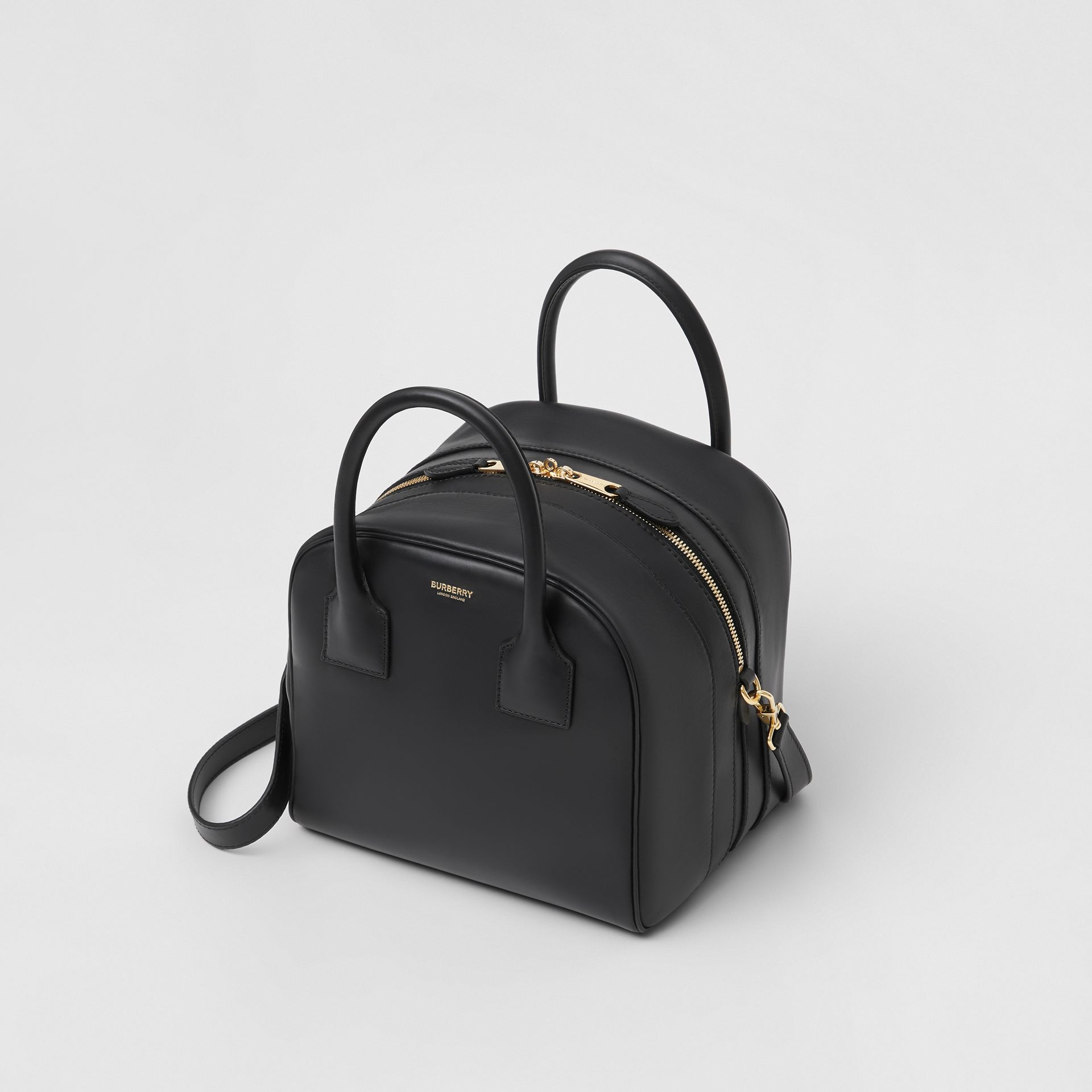 Small Leather Cube Bag in Black - Women | Burberry Australia - gallery image 3