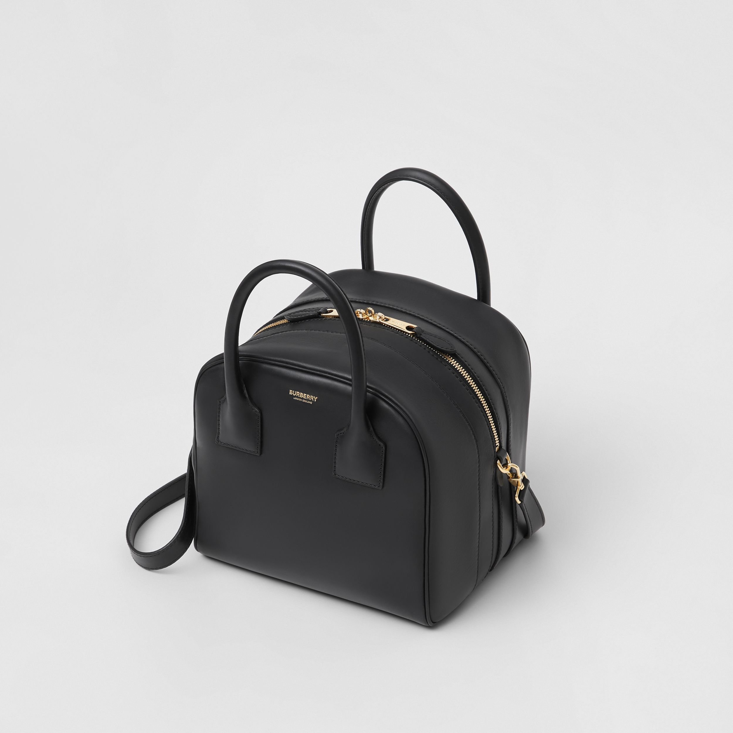 Small Leather Cube Bag in Black - Women | Burberry - 4
