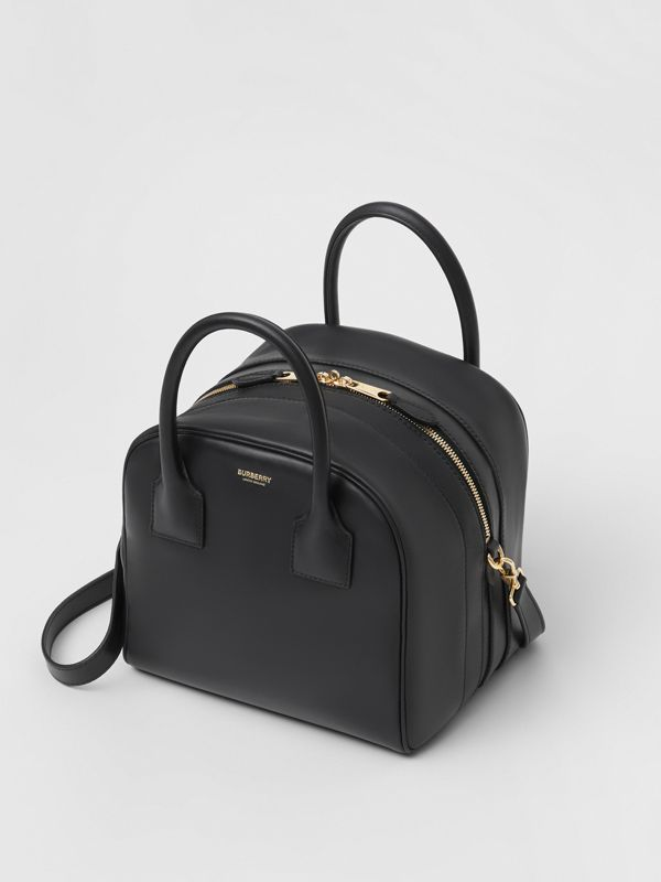 Small Leather Cube Bag in Black - Women | Burberry - cell image 3
