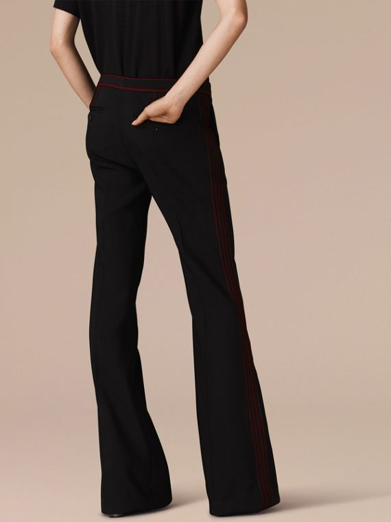 Black Stretch Boot-cut Trousers - cell image 2