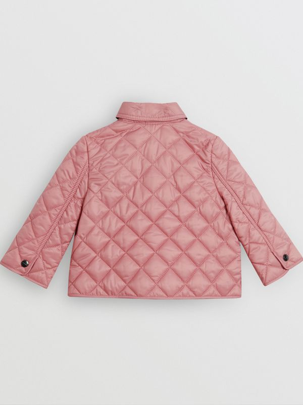 Lightweight Diamond Quilted Jacket in Pale Ash Rose - Children | Burberry Australia - cell image 3