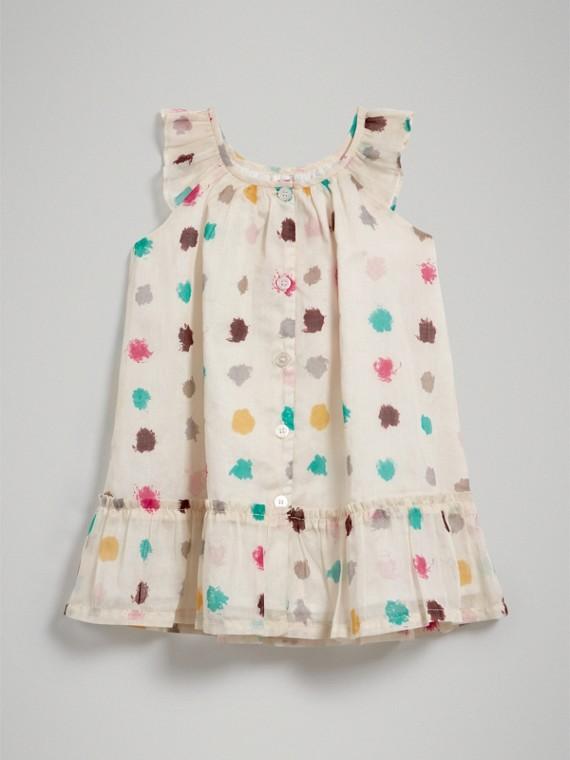 Расклешенное платье в горошек (Естественный Белый) | Burberry - cell image 3