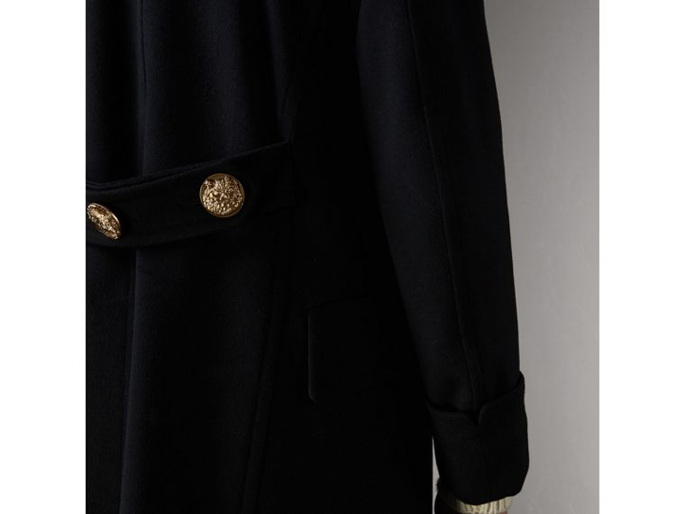 Detachable Mink Collar Cashmere Wool Greatcoat in Black - Men | Burberry - cell image 4