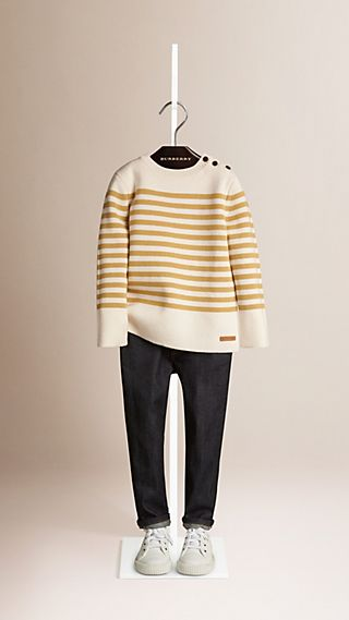 Jersey marinero en lana y algodón