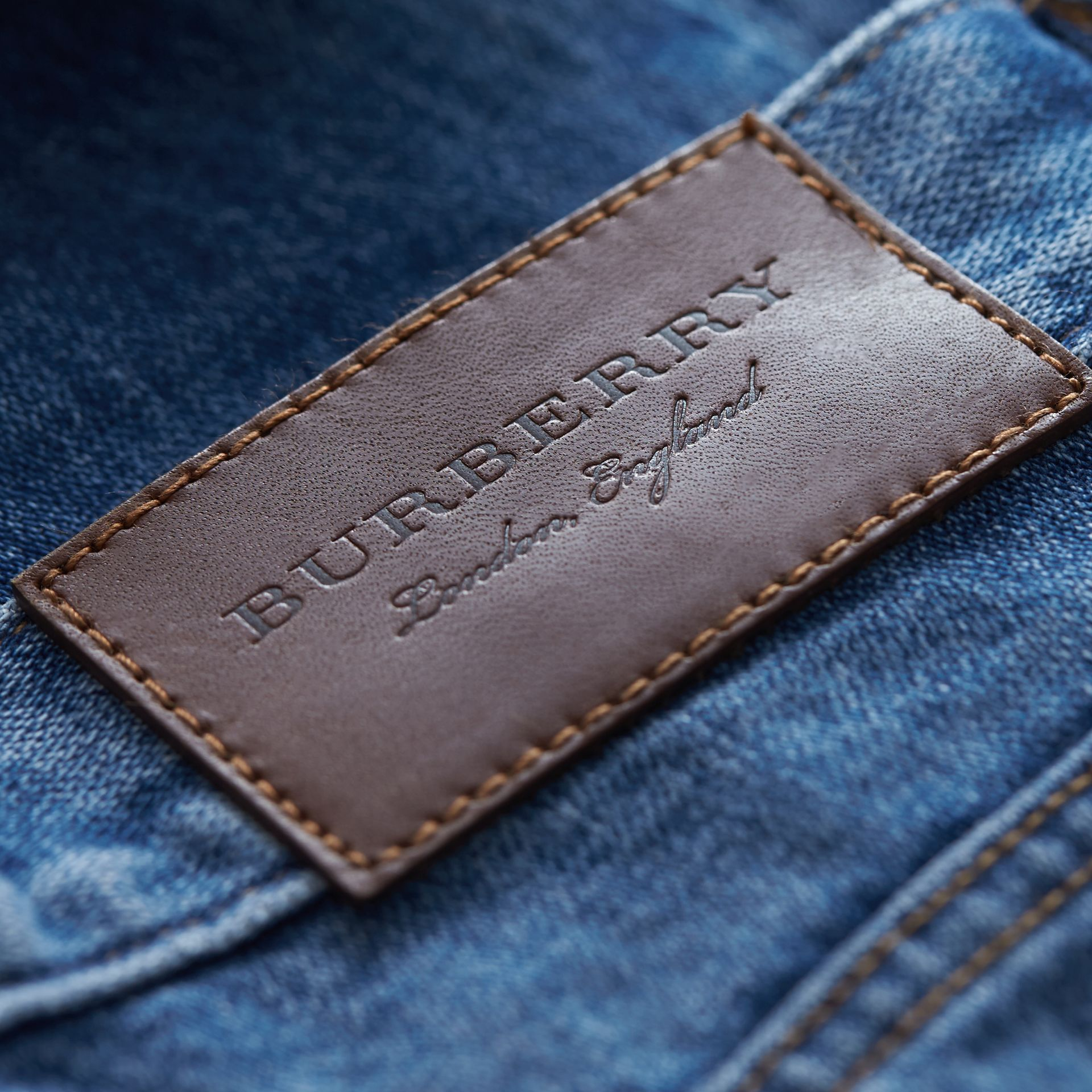 Skinny Fit Stretch-denim Jeans in Mid Indigo - Men | Burberry Canada - gallery image 2