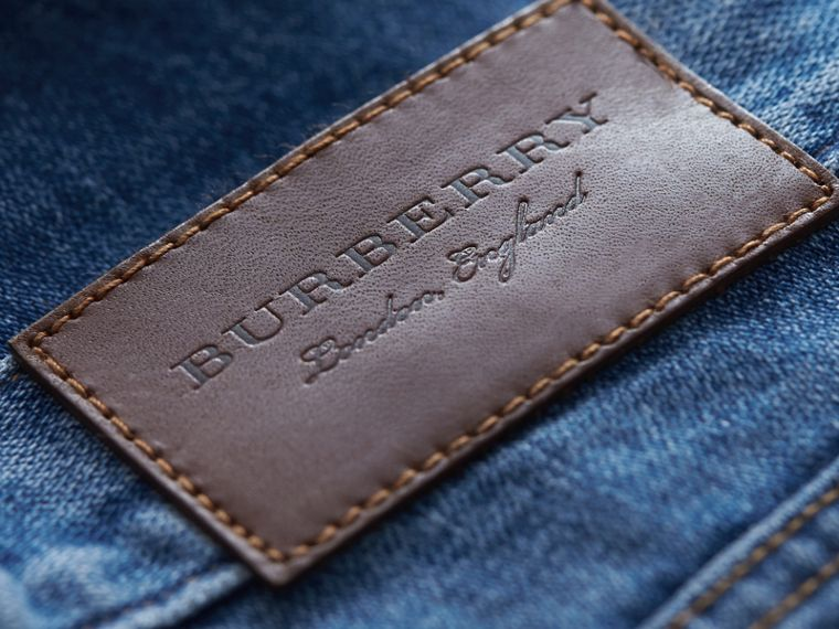 Skinny Fit Stretch-denim Jeans in Mid Indigo - Men | Burberry - cell image 1