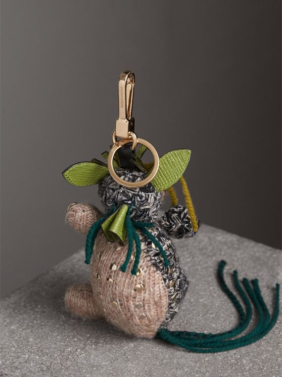 Mabel The Donkey Wool Charm in Sand Multicolour | Burberry United Kingdom - cell image 3